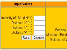 bending moment calculator