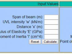 slope and deflection calculator