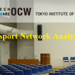 Transport Network Analysis notes from Tokyo Tech
